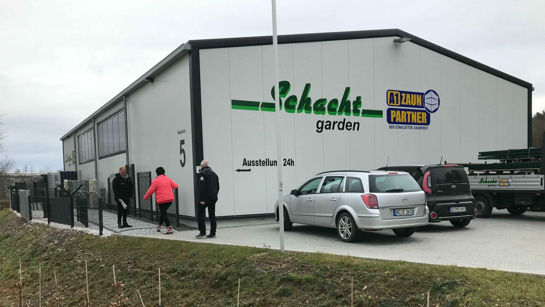 Schacht garden Logistikzentrum Ansicht Parkplatz