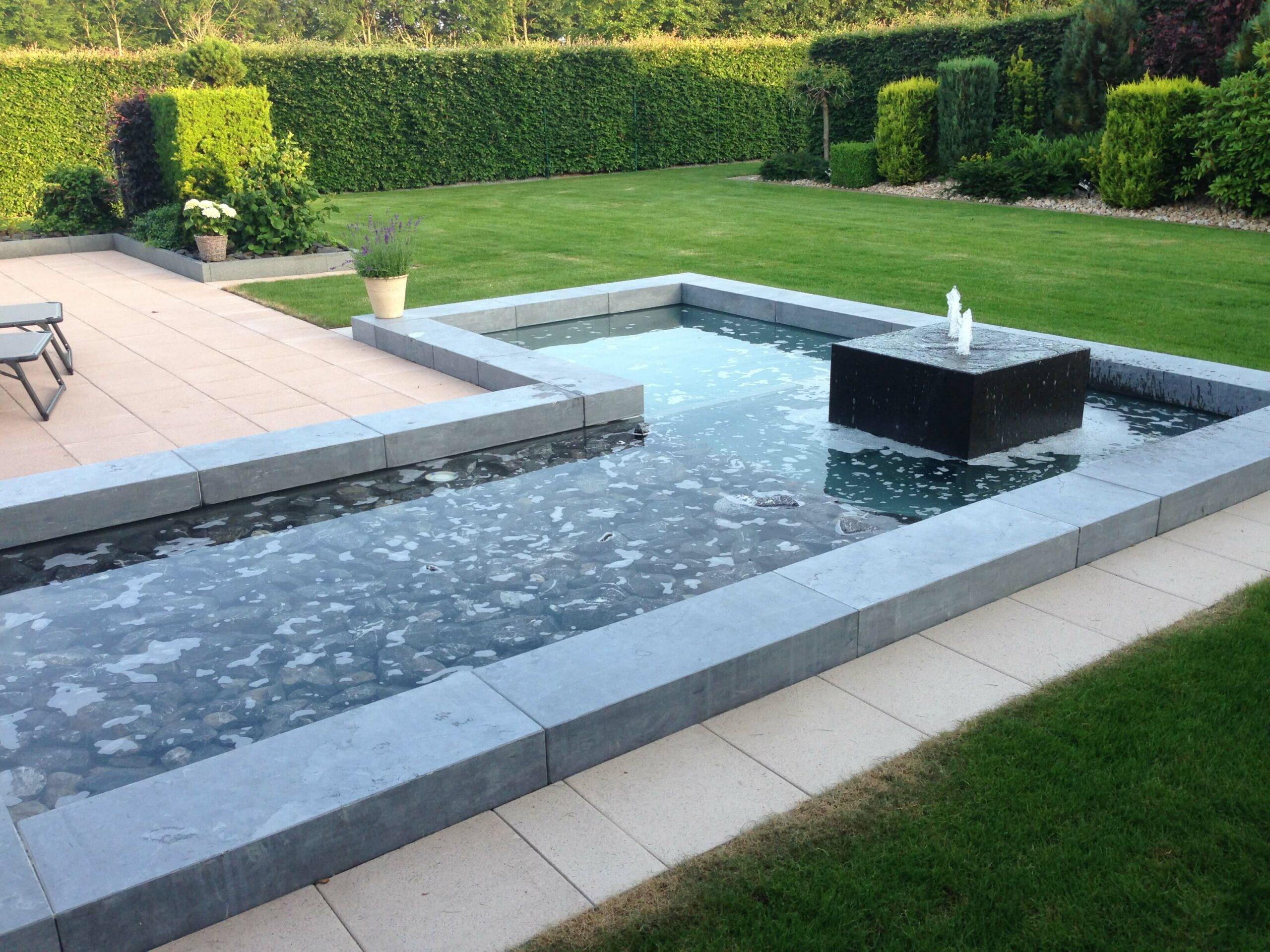 Garten Neuanlage mit Wasserbecken und Springbrunnen