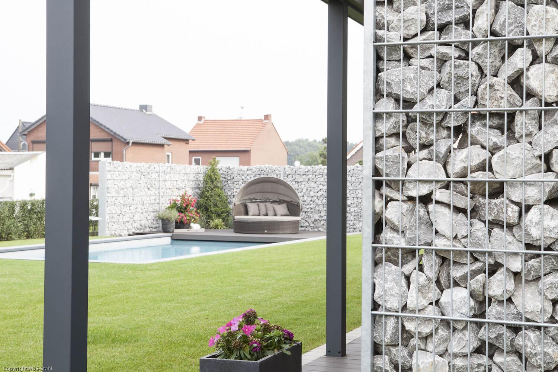 Schacht garden A1 ZaunPartner Gabionenzaun-Systeme 1