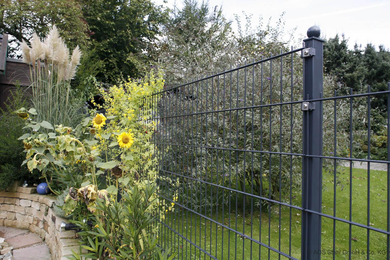 Schacht garden A1 ZaunPartner Doppelstabgitterzaun MORITZ