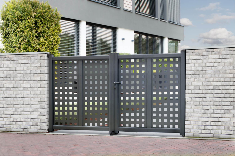 Schacht garden A1 ZaunPartner Torsysteme ALU Designtor ALURANGE OREGON 2