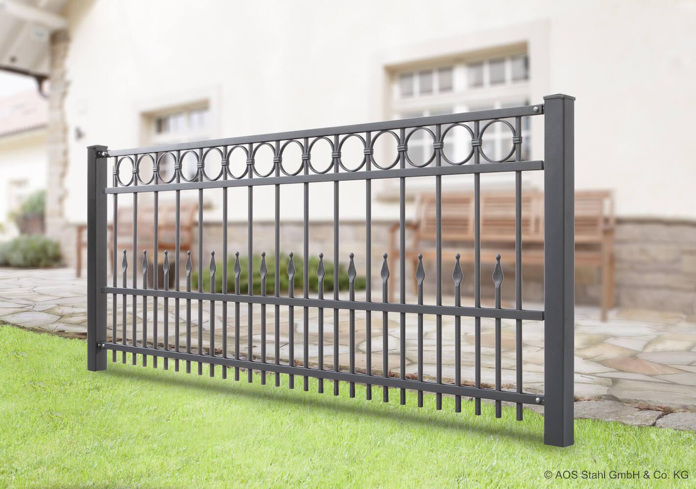 Schacht garden A1 ZaunPartner Schmiedezaun DRESDEN Anwendung